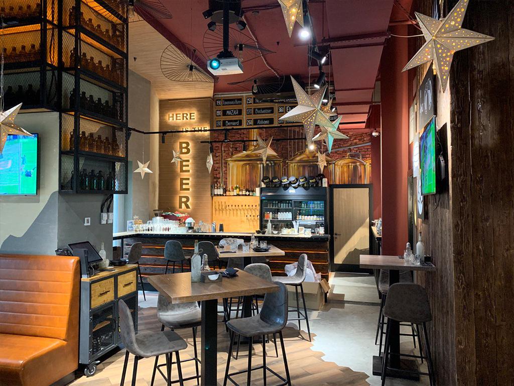 новогоднее оформление ресторанов и кафе