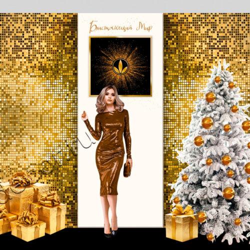 Красивое новогоднее оформление корпоративных мероприятий и декор к новому году 2020 студия декора и флористики ngdecor.ru